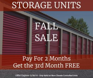 Fall Storage Sale