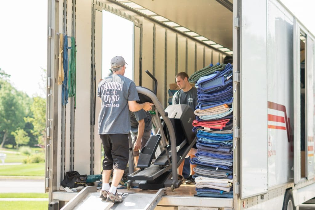 Movers Loading Moving Van